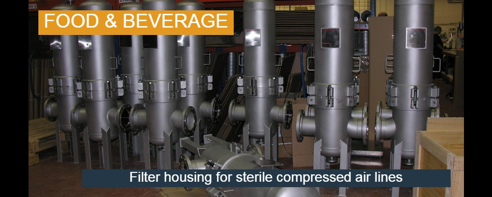 Sterile compressed air lines