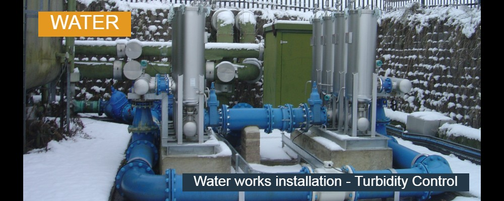 Water works installation
