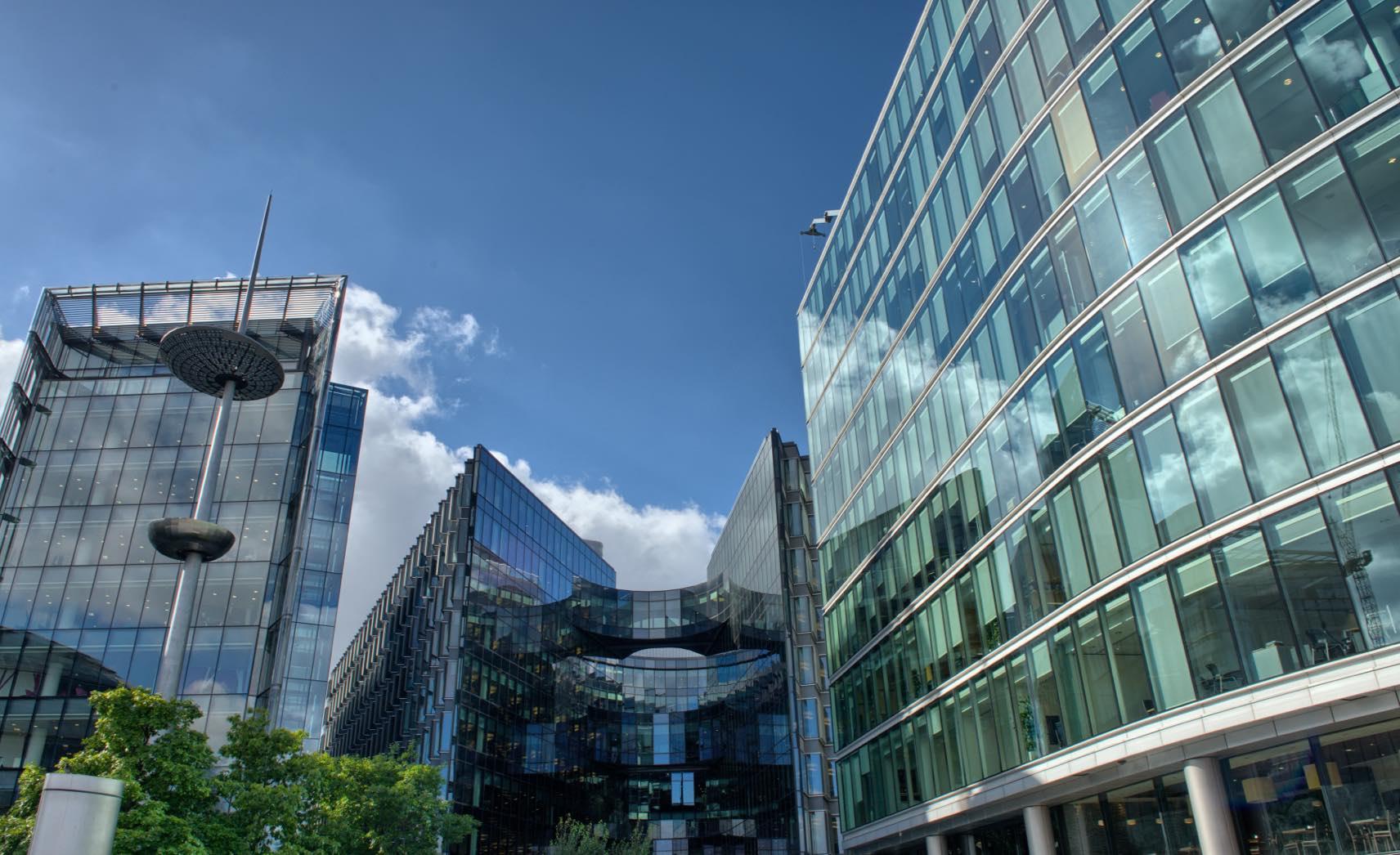Office blocks in modern city
