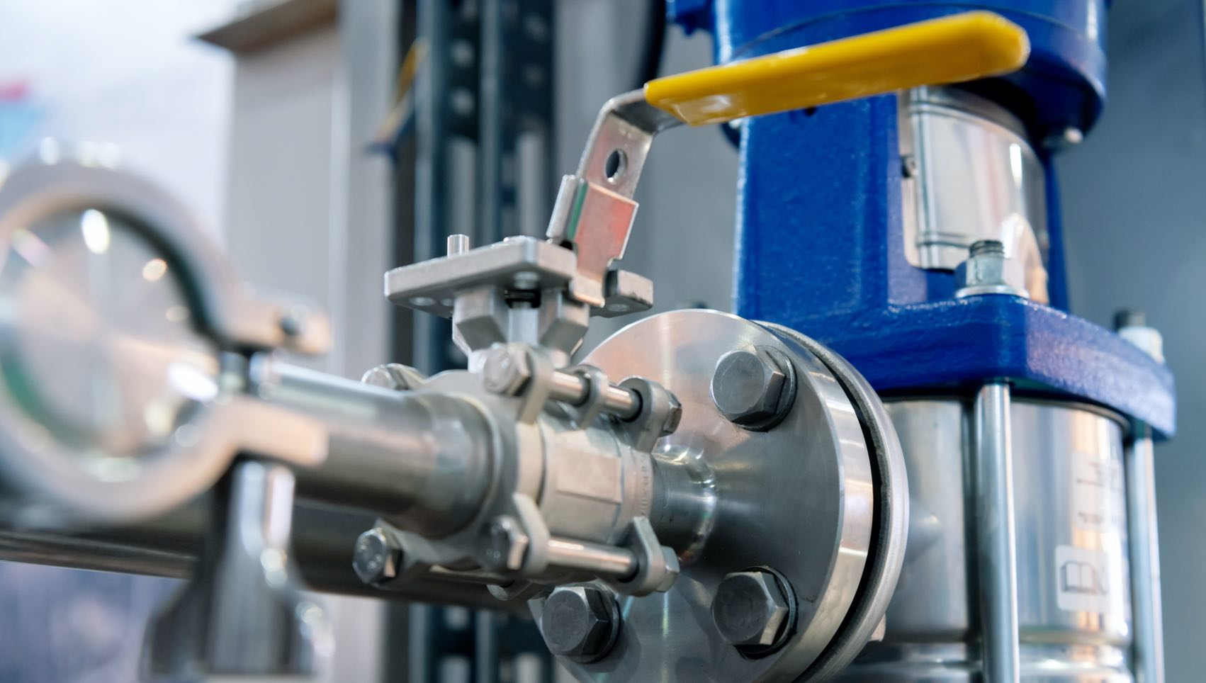 valves in industrial plant